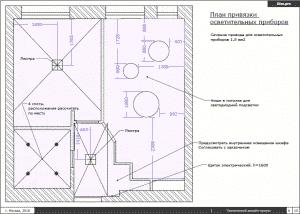 Технический чертеж в интерьере