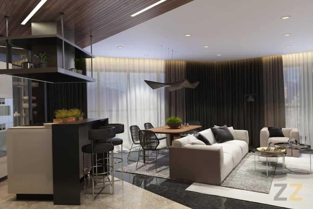 Дизайн интерьера гостиной в квартире Москва