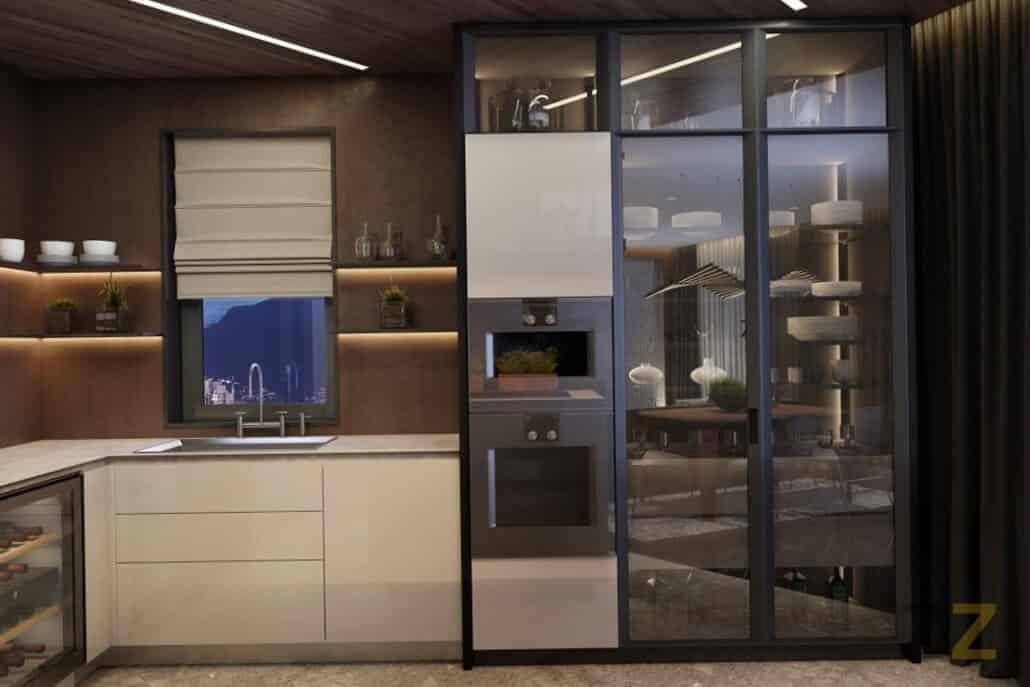 Дизайн интерьера кухни квартира Москва