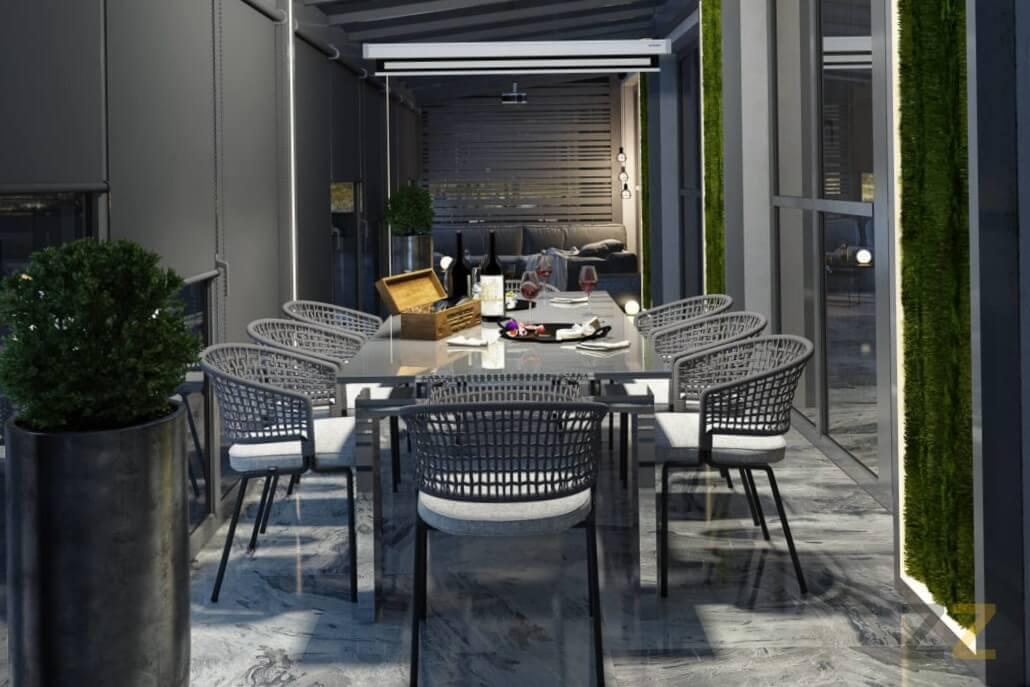 Дизайн интерьера террасы в квартире