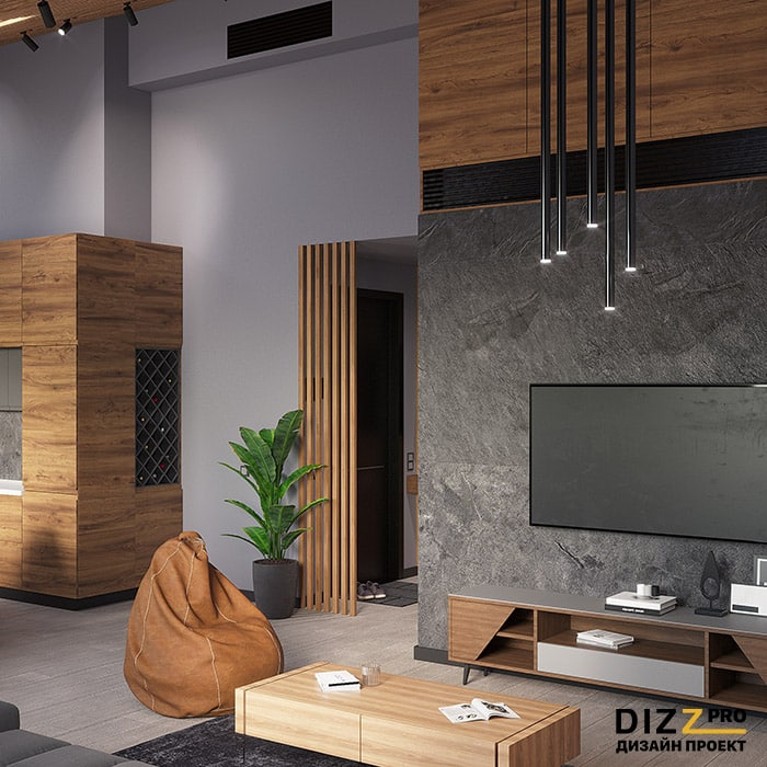 Дизайн интерьера мужской кухня гостиная высокие потолки